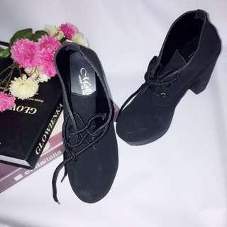 免運&二手 黑色厚底高跟鞋 #五百元好女鞋