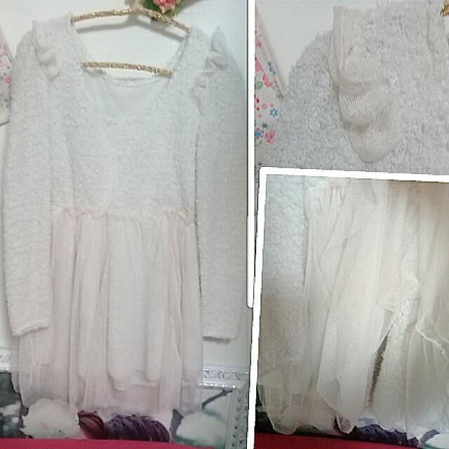 (3款)角色扮演服裝,公主裝,澎澎裙,宮廷風,蜜蜂裝,白色洋裝,蕾絲洋裝,毛料洋裝