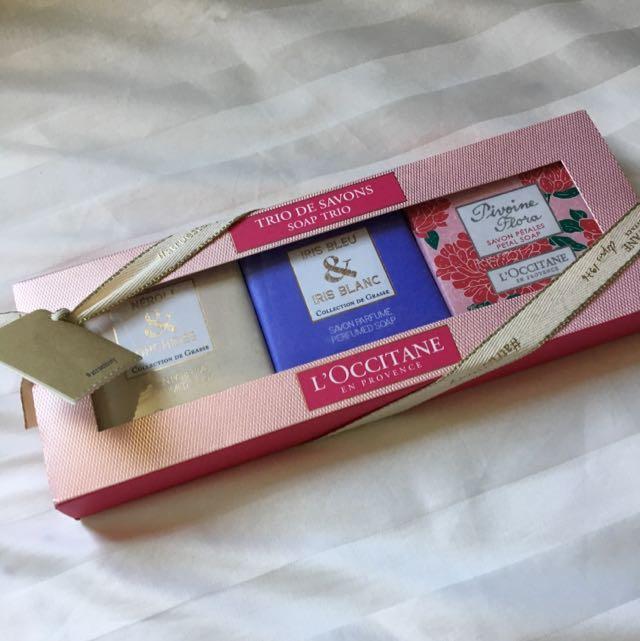 歐舒丹香皂禮盒