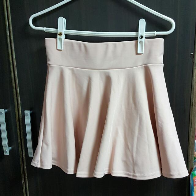 淺粉簡約短裙