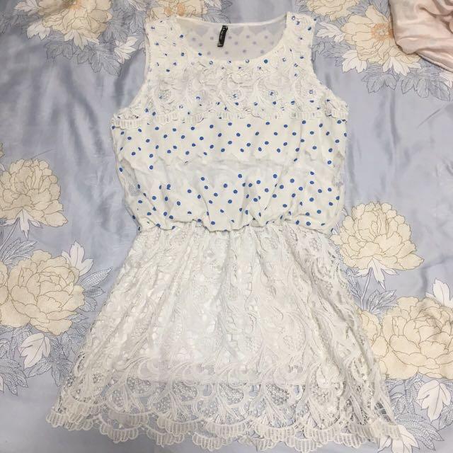 點點白洋裝