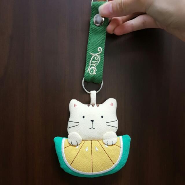 西瓜貓吊飾