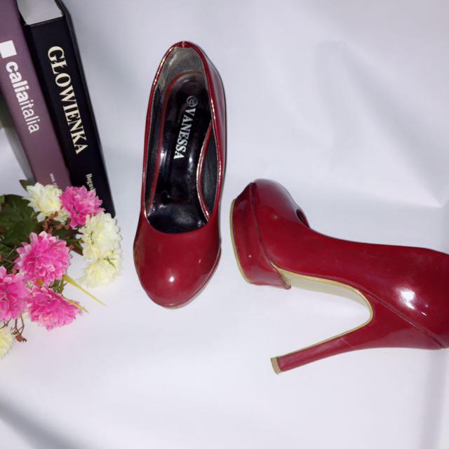免運&二手 紅色高跟鞋 #五百元好女鞋