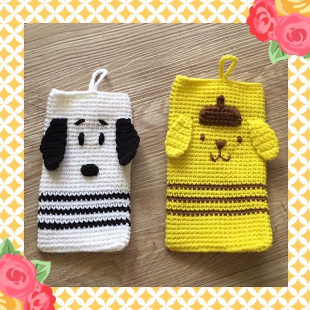 🐩🐕 手機套 ✿ 毛線編織手作雜貨 ✿