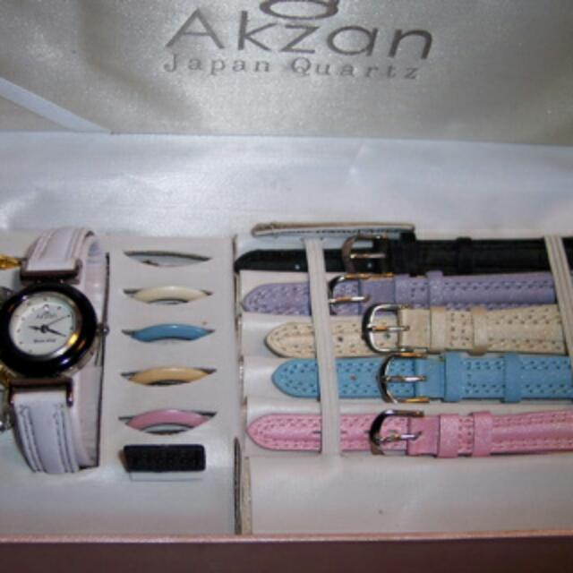 Akzan Watch with Interchangeable Bands and Watch Faces
