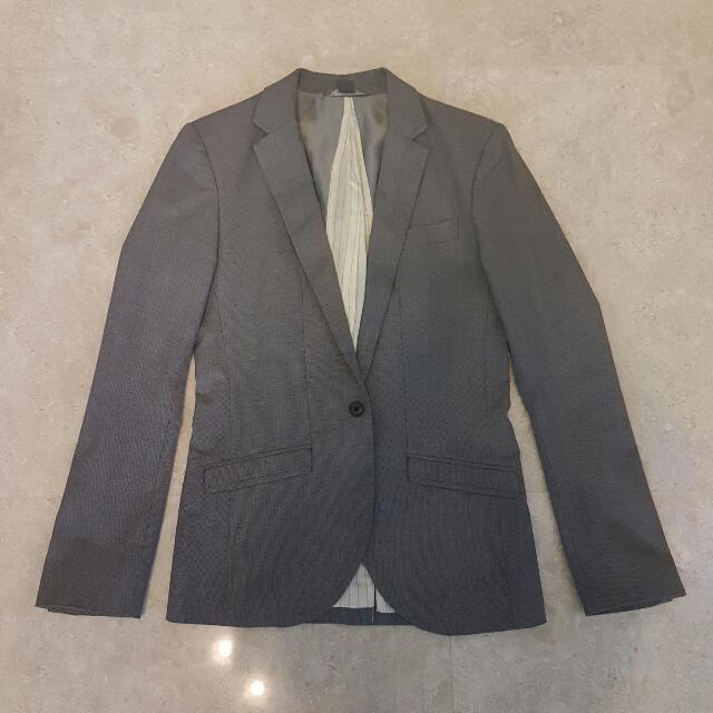 Armani Exchange Grey Blazer Jacket Suit