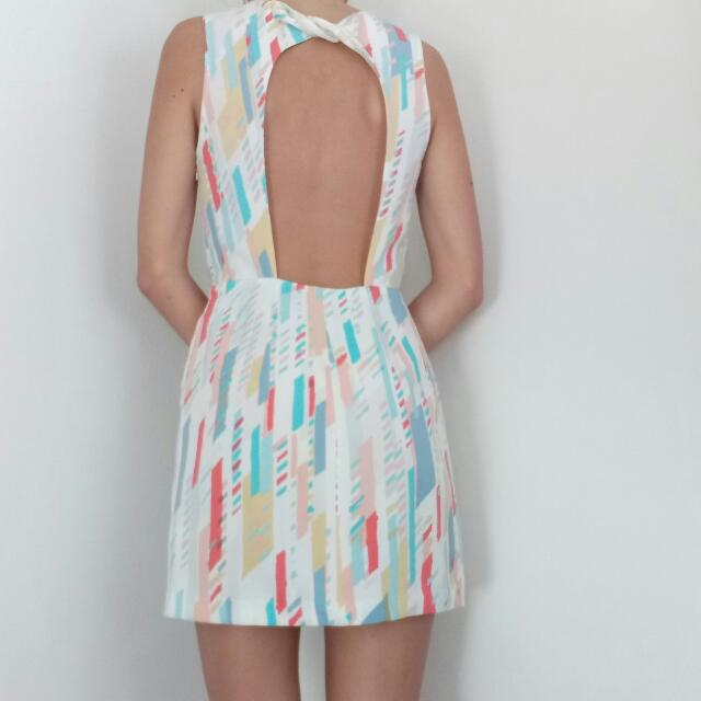 ARMANI Summer Dress With Cut Out Back