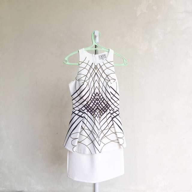 Asymetrical White Dress