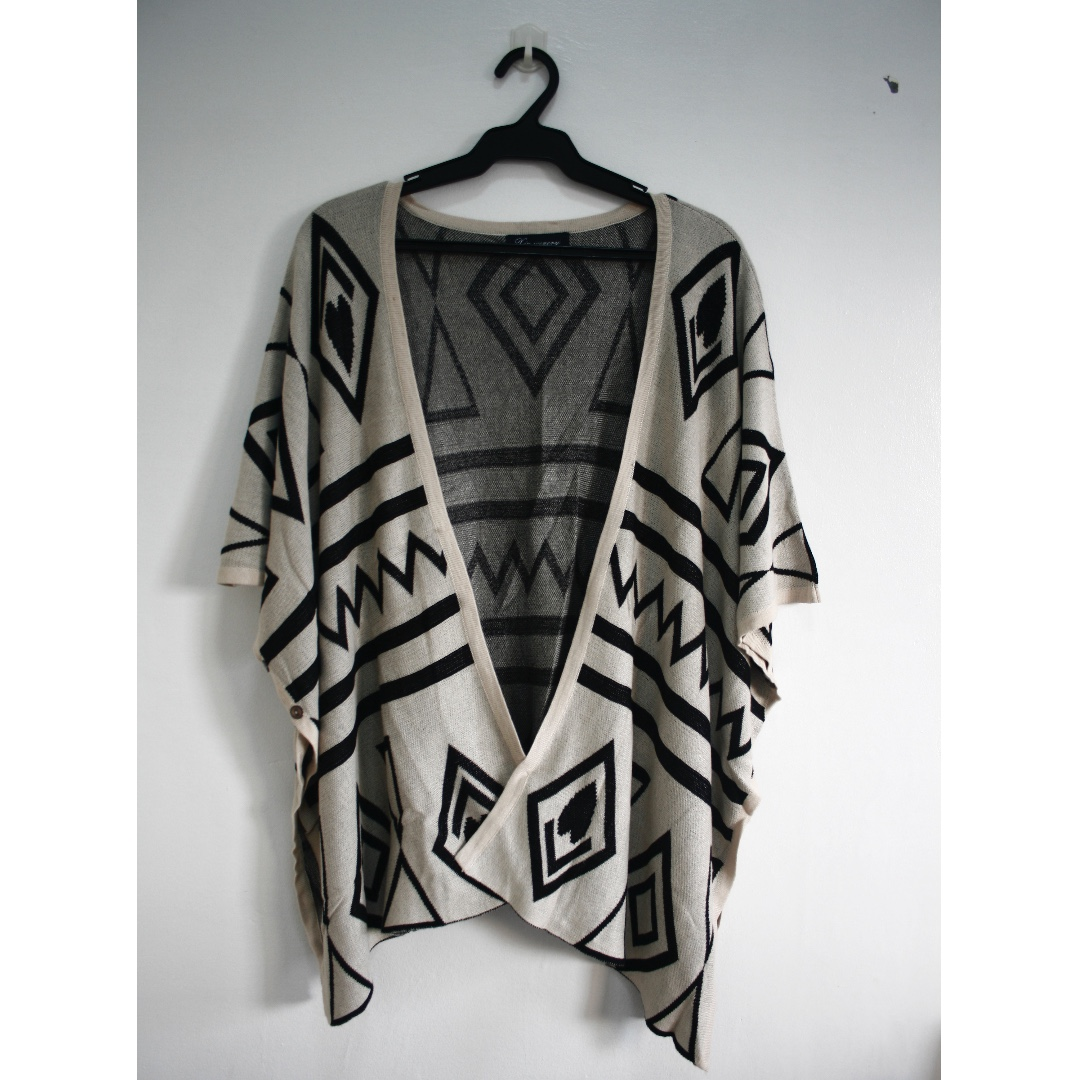 Aztec Poncho (can convert into a shawl)