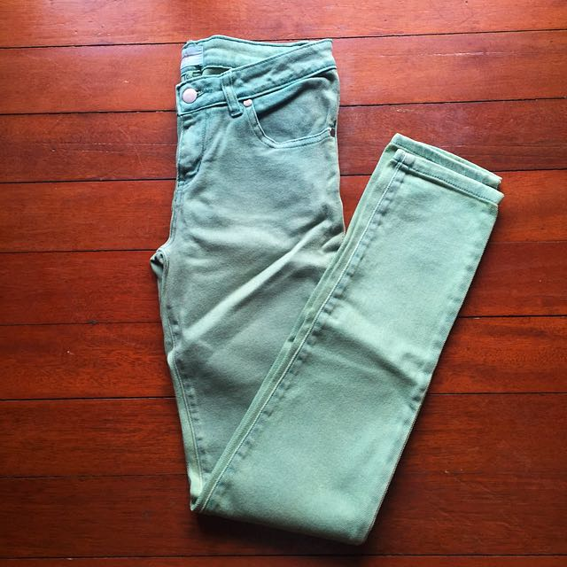 Bayo Green Denim Pants