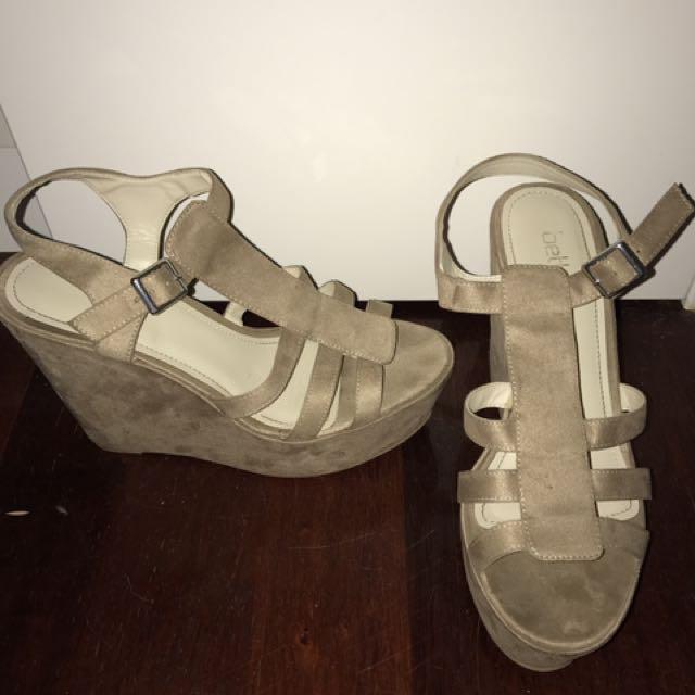 Betts Nude Wedge Sandal
