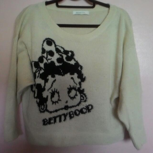 Betty Boop Pull Over