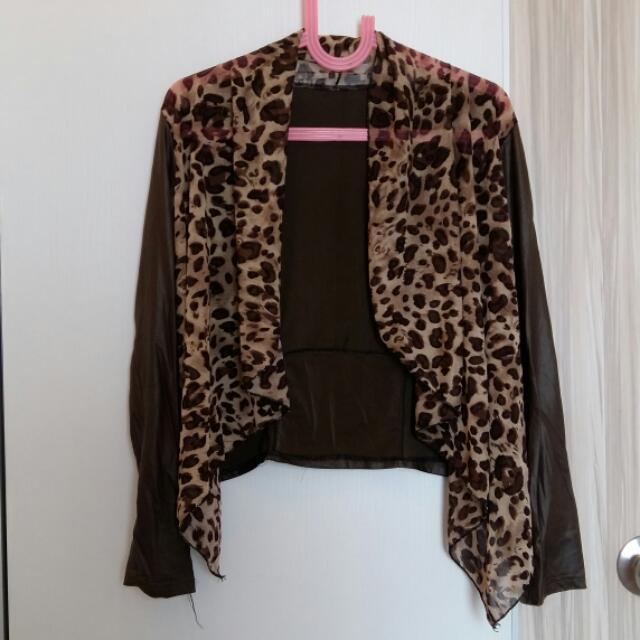 Blazer Motif Leopard