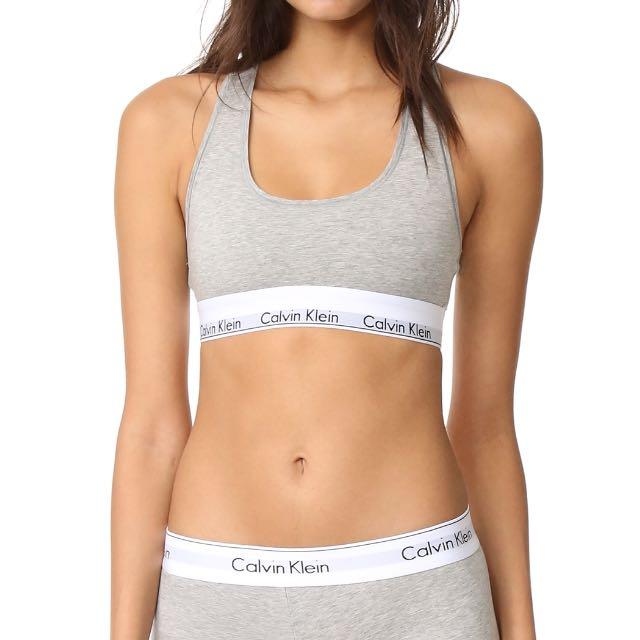 51eaa546ff89 BNWT Calvin Klein Underwear Modern Cotton Bralette Grey Size S ...