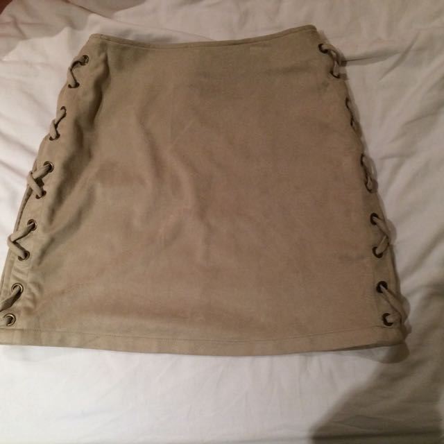 Boohoo Suede Skirt Size 8