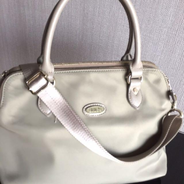 BRICS beige canvas handbag with long strap