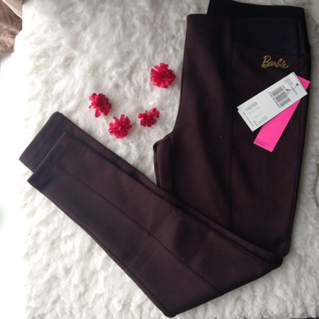brown leggings with tags