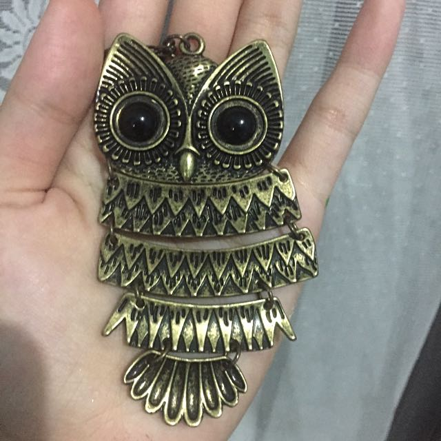 Claire's Owl Chain Necklace