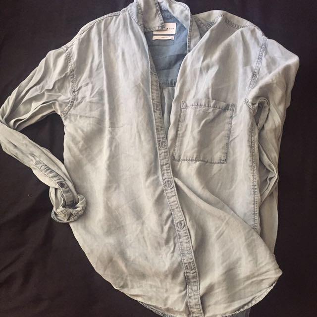 Denim Aritzia community Button Up Shirt