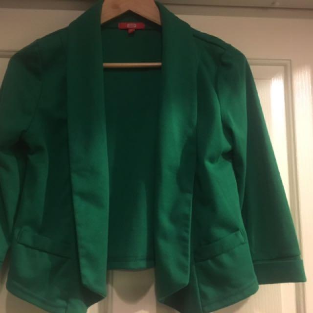 Emerald Blazer Size 10 SES Stretch Jersey