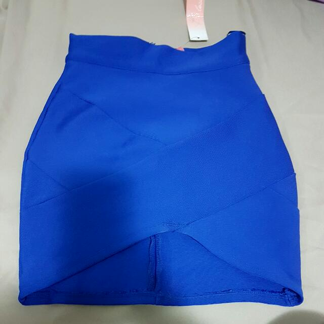 Fitted Blue Skirt
