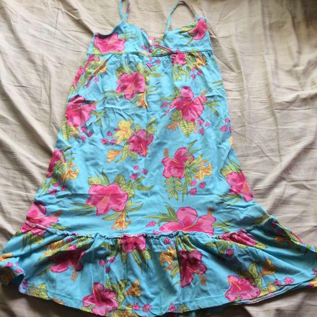 Floral spag strap dress