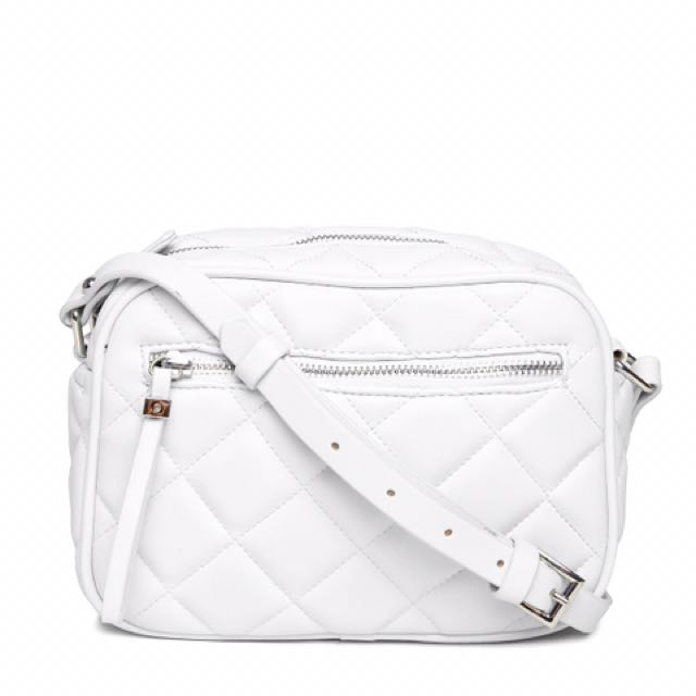 Forever 21 Quilted Sling Bag (White) 1665d1f54f0e2