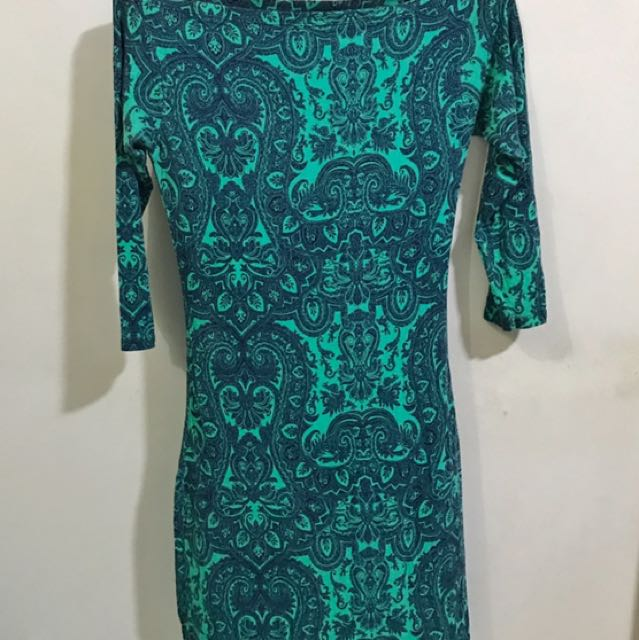 Green Aztec Dress