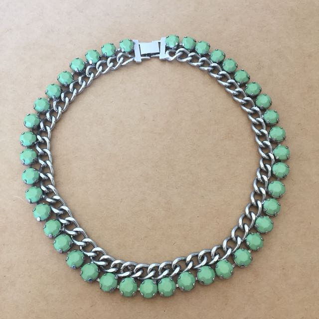 Green Cocktail Necklace