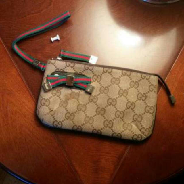 Gucci Wrist / Clutch Wallet With Strap