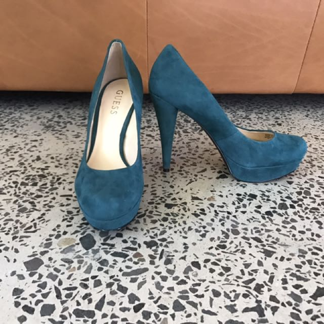 Guess Suede Emerald Green Stillettos