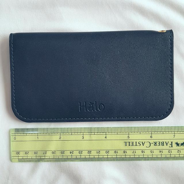 HALO CELLFONE WALLET CASE Pre-loved Item  Navy Blue
