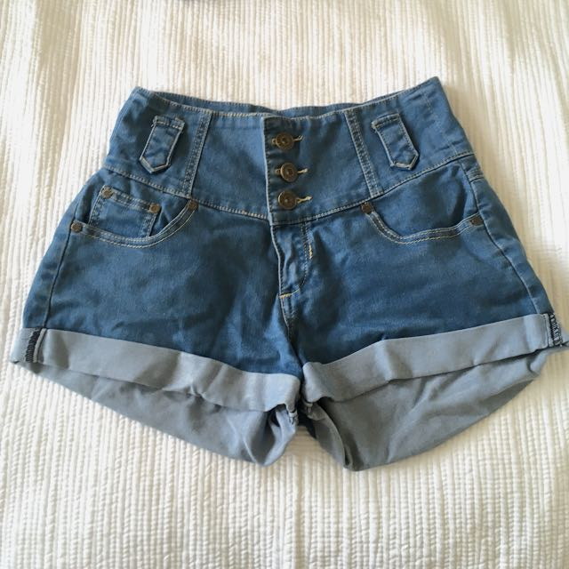 High Wasted Denim Shorts