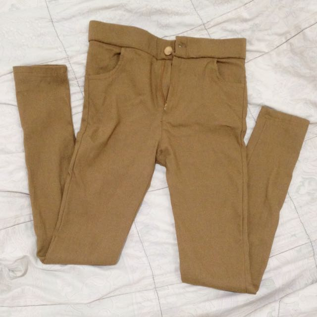 HIGHWAIST JEGGING DARKBROWN