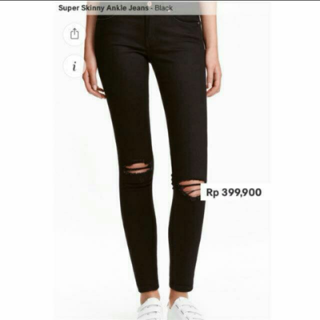 H&M Super Skinny Ripped Jeans