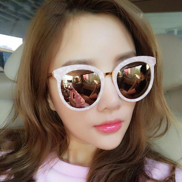 [Instock] Marble Pink Reflective Sunglasses