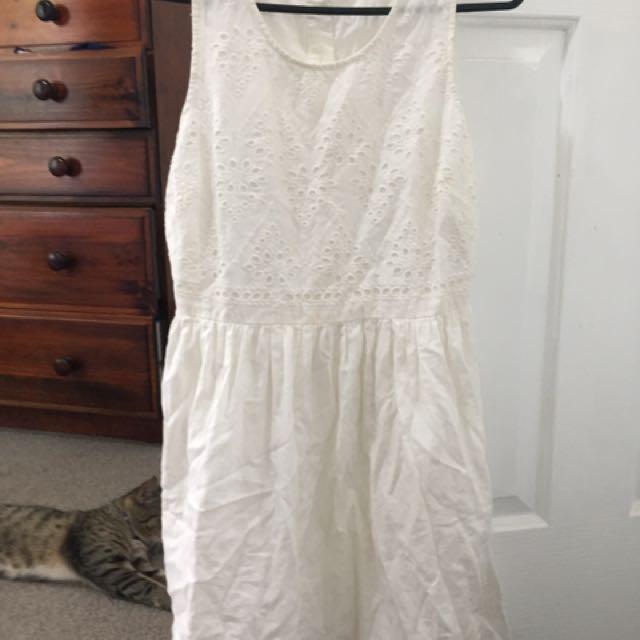 Jay Jays White Summer Dress Size 8