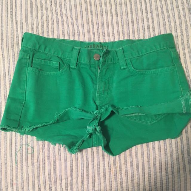 Jbrand green Denim Shorts