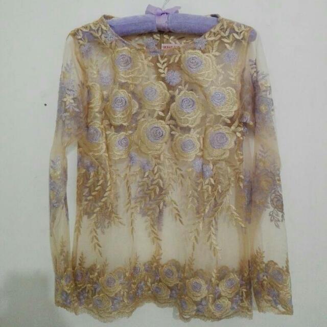 Kebaya Gold-Purple