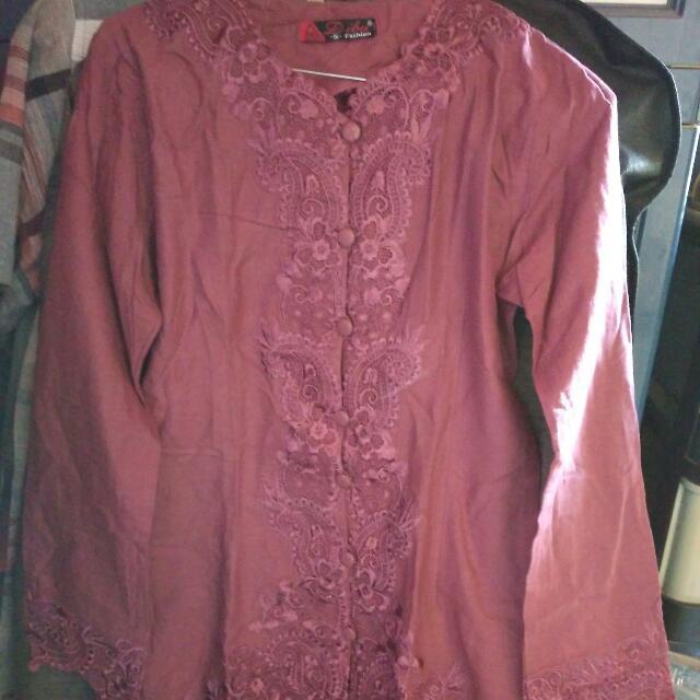 Kebaya Warna Merah Maroon Size S Fit To M