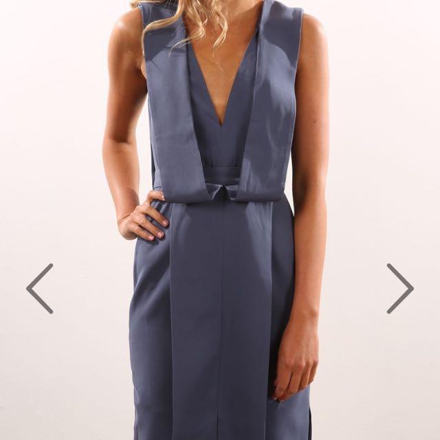 Keepsake The Label Navy Midi Dress