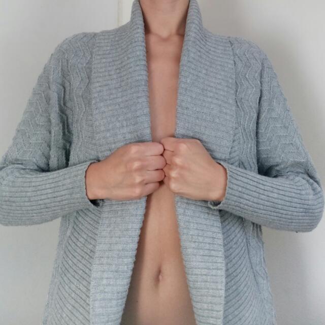 Knit Cardigan In Grey