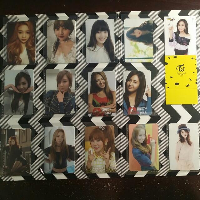 Official Photocards (F(x), SNSD/Girls' Generation, Orange Caramel)