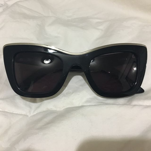 Ksubi Black Cat Eye Sunglasses