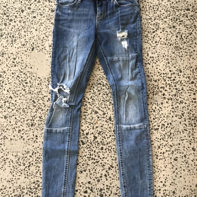 Lee Riders Distressed Skinny Leg Jeans