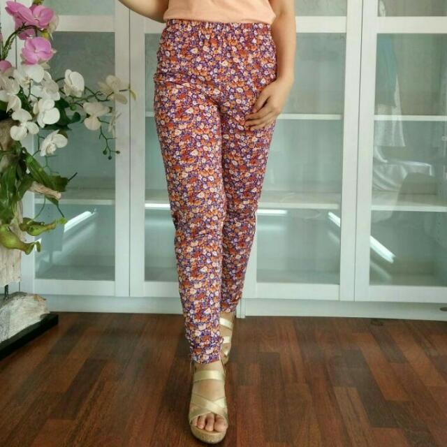 legging bunga bhn cotton