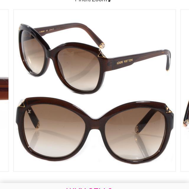1ff49d939ca Louis Vuitton Brown Speckling Hortensia Sunglass (Ladies)