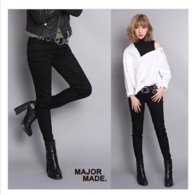 Mavis Major Mjr 超彈性顯瘦黑褲