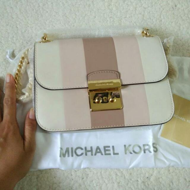 Michael Kors Sloan multi-stripe leather cross-body bag