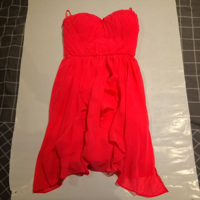 Mid Dress Coral Pink